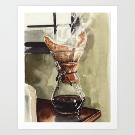 Filter Coffee, For the Chemex Lover Art Print