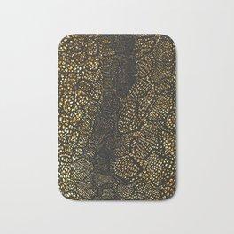 Black Gold Snake Skin Bath Mat