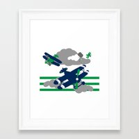 airplanes Framed Art Prints featuring Airplanes 2  by ann t jones