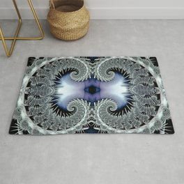 Lace Spirals Periwinkle Rug