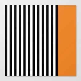 Liquorice allsorts, orange Canvas Print