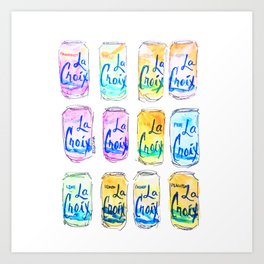 Watercolor La Croix Art Print