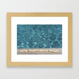 Swimming-pool Framed Art Print