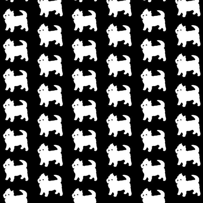 Westie Dog Pattern Duvet Cover