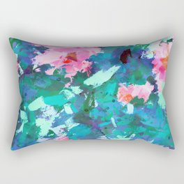 Blossomed Garden Rectangular Pillow