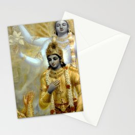 Lord Krishna Hindu Poster Yoga Buddhism Meditation Orient Stationery Cards