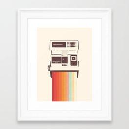 Instant Camera Rainbow Framed Art Print