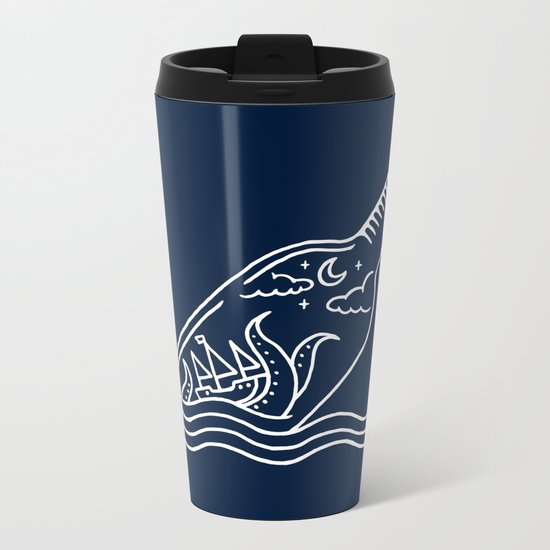 Kraken in a bottle Metal Travel Mug