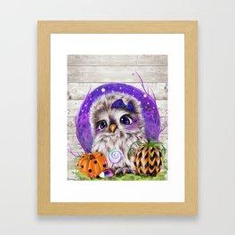Sweet Halloween Owl Framed Art Print