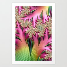 Rainbow Thorns Art Print