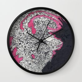 ' Alien Queen  ' By: Matthew Crispell Wall Clock