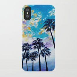 Oceanside Palm Trees iPhone Case
