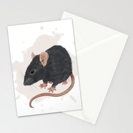 Pet rat Mustikka Stationery Cards