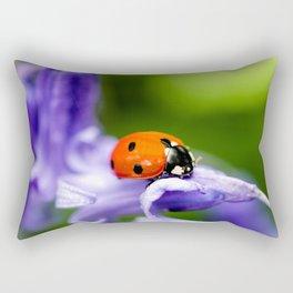 Ladybird on Bluebell Rectangular Pillow