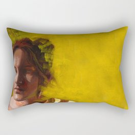 Megan, Fine Art Oil Painting Portrait Print Rectangular Pillow