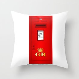 Traditional British  Georges Reign Postbox Throw Pillow
