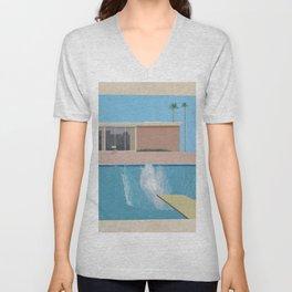 A Bigger Splash - David Hockney, 1967 Unisex V-Neck