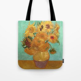 Vincent Van Gogh Twelve Sunflowers In A Vase Tote Bag