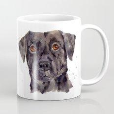 LABRADOR painting, dog painting, watercolor dogs, Black Lab art Mug