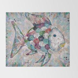 Rainbow Fish Collage Throw Blanket