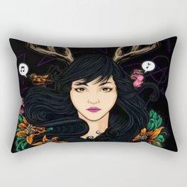 Fawn Girl - Rectangular Pillow