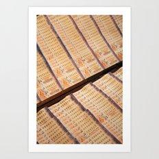 Thai Lottery Art Print