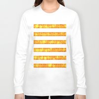 duvet cover Long Sleeve T-shirts featuring Golden Glitter Stripes Duvet Cover by Corbin Henry