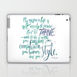 Maya Angelou Knows  Laptop & iPad Skin