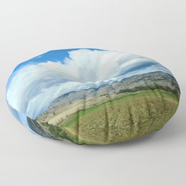 Farmers Fields and Rolling Hills Floor Pillow
