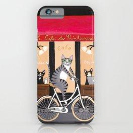 Cats Le Cafe du Printemps iPhone Case