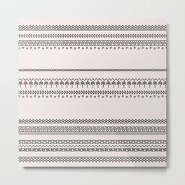 Tribal Pattern of Baluimbi Metal Print