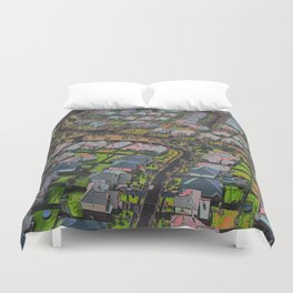 Urban Sprawl Duvet Cover
