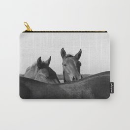 Wild Horses in Black and White Carry-All Pouch
