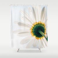 daisy Shower Curtains featuring Daisy by StayWild