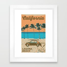 Laguna Beach California. Framed Art Print