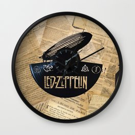 Black Zeppelin Wall Clock