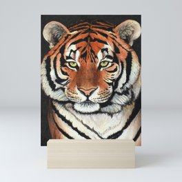 Tiger portrait drawing Mini Art Print