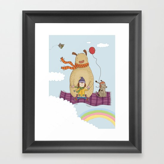 FLYING CARPET Framed Art Print