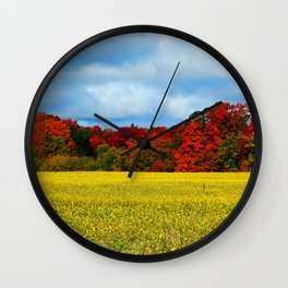Blue Red Yellow Green and White Wall Clock