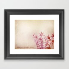 Wear Your Invisible Crown Framed Art Print