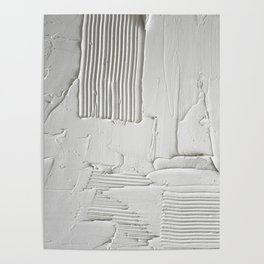 Relief [3]: an abstract, textured piece in white by Alyssa Hamilton Art  Poster
