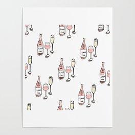 PATTERN II Rosé & Sparkling Wine Poster