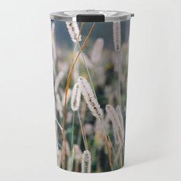 Whimsical Tall Grass Nature Field Landscape Photo Travel Mug