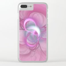 Pink Abstract Fractal on Pink Clear iPhone Case