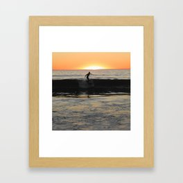 Manhattan Surfer Framed Art Print
