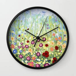 Blooms & Kisses Wall Clock
