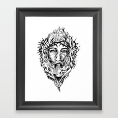 Jesus Fire  Framed Art Print