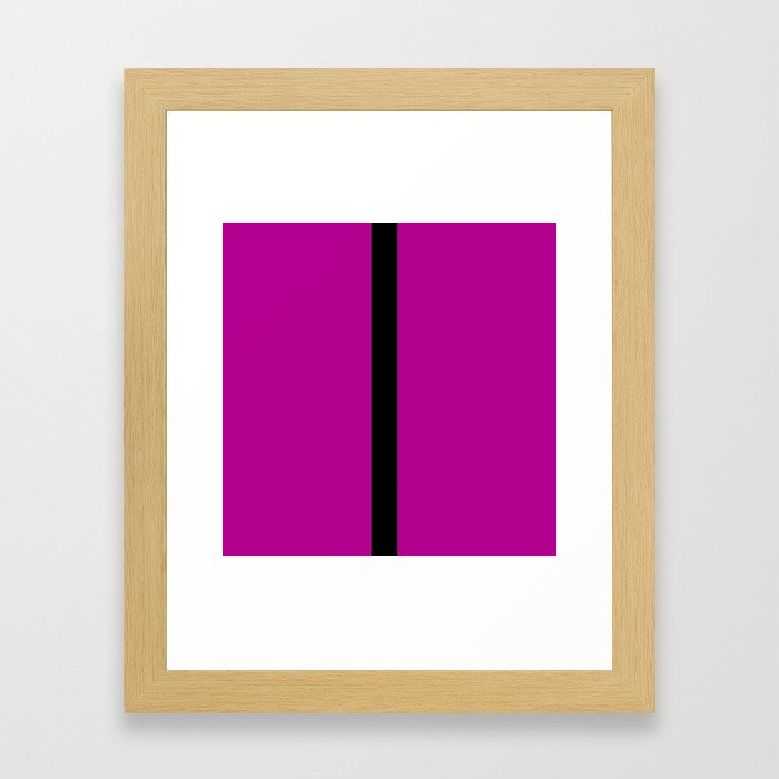 Purple with Black Stripe Framed Art Print