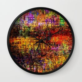 Abstracts in Color No 8, 2019 Wall Clock