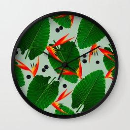 Costa Rican Print Wall Clock